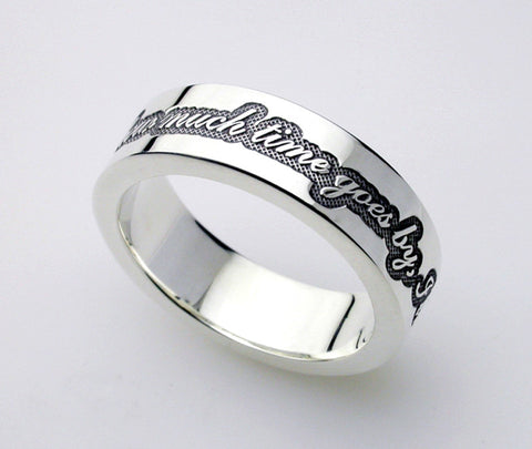 "Saito - Posy Silver 950 Ring - "" No matter how much time goes by, I love you. "" - Free shipping"