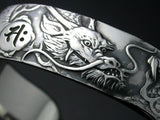 Saito - Rise Dragon-R Silver 950 Bangle with Bonji - Free shipping