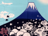 Wafuka - Fuji Mountain Blue (The dyed Tenugui)