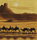 Hirayama Ikuo - The morning at Loulan (Silk Road) -  Limited Edition with Frame - Free Shipping