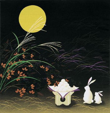 Saigiki - Otsukimi (Moonlight party rabbit) - Furoshiki - 50 x 50 cm