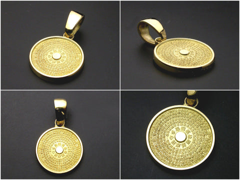 ... Saito - Heart Sutra Extra Small Round Shape Gold Pendant Top (18Kt Gold)  ... e246f97a4f
