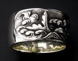 Saito - Rise Carp in the River Silver Ring (Silver 925) - Free shipping