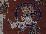 Maruwa - Butterfly on Classic cloth Brown - Furoshiki 105 x 105 cm