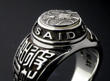 Saito - Dragon Crest Emblem(Silver 950) with Sun Tzu Silver Ring - Free Shipping