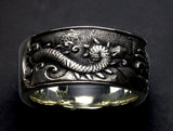 Saito - Rise Dragon in the Sea Silver Ring (Silver 925) - Free shipping