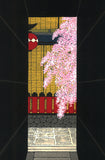 Kato Teruhide - #029 Shidare Roji  (Weeping cherry tree in the alley) - Free Shipping