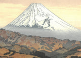 Yoshida Toshi - #016204 Izu Nagaoka no Fuji Fuyu (Mt.Fuji from Nagaoka winter) - Free Shipping