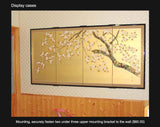 Tominaga Jyuho - Japanese Traditional Hand Paint Byobu (Gold Leaf Folding Screen) - X107 - Free Shipping