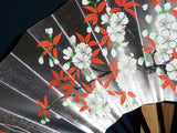 "Kyoto Kazari Sensu - #35 Many Flowers - Length - 28.7 cm (11.29"") - Free Shipping"