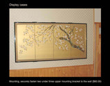 Tominaga Jyuho - Japanese Traditional Hand Paint Byobu (Gold Leaf Folding Screen) - X125 - Free Shipping