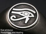 Saito - Egyptian motif  EYE OF Horus - Restoration and Healing Amulet Silver Ring - Free Shipping