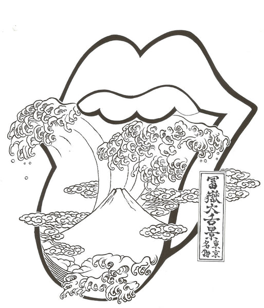 The Rolling Stones 富嶽大舌景~赤舌~ Akajita (Limited Edition 200 Sheet only) –  Magnificent Items from Japan (Team Wakon Japan)
