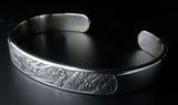 Saito - Rise Dragon-L Silver 950 Bangle - Free shipping