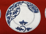 Maruwa -  Imari Small Plate Vermilion  - Furoshiki (Japanese Wrapping Cloth) 50 x 50 cm