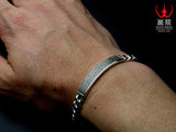 Saito - Heart Sutra Slim Silver Bracelet (Silver 950) - Free Shipping