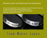 Saito - Type-B Custom Made Steel Bent Ring Jewelry Stamp - Shipping Free