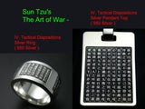 Saito - Sun Tzu's The Art of War - IV.Tactical Dispositions Silver Pendant Top - Shipping Free