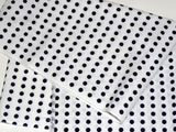 One long Unit of Mameshibori - (Navy dot without cut) Japanese Tradition Cotton Towel (Tenugui) 33 x 860 cm  (The dyed Tenugui)