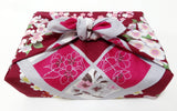 Maruwa -  Full of Sakura (D.Red)  - Furoshiki (Japanese Wrapping Cloth)