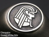 Saito - Egyptian motif Cleopatra - Queen of the Nile Amulet Silver Ring - Free Shipping
