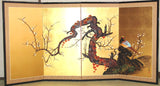 Miyake Eisai - Japanese Traditional Hand Paint Byobu (Gold Leaf Folding Screen) - X128 - Free Shipping