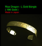 Saito - Rise Dragon - L 18Kt Gold Bangle - Free Shiping