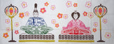 Wafuka - Hina Ningyo(Hina Dolls) (The dyed Tenugui)