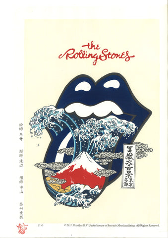 The Rolling Stones 富嶽大舌景~青舌~    Aojita (Limited Edition 100 Sheet only) - Shipping Free