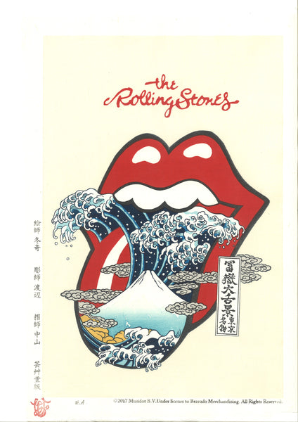 The Rolling Stones 富嶽大舌景~赤舌~ Akajita (Limited Edition 200 Sheet only) -  Shipping Free