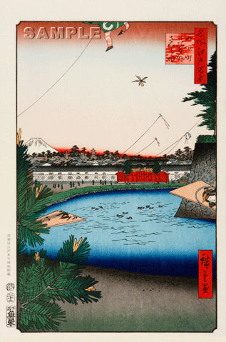Utagawa Hiroshige - No.003 Hibiya and Soto-Sakurada from Yamashita-chō - One hundred Famous View of Edo - Free Shipping