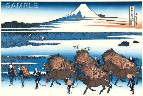 Katsushika Hokusai - #31 - Sunshū Ōno-shinden (Ōno Shinden in the Suruga Province) - Free Shipping