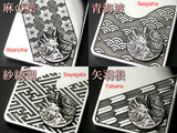 Saito - Dragon Crest Emblem(Silver 950) on Genroku Pattern Pendant Top (Silver 950) - Free Shipping