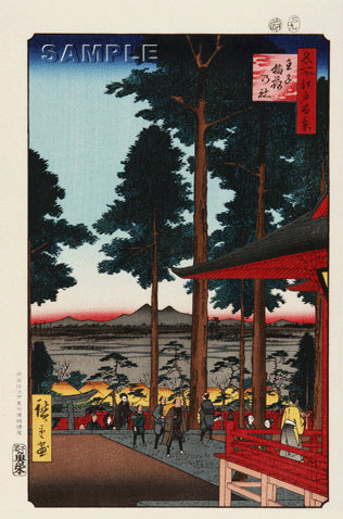 Utagawa Hiroshige - No.018 The Ōji Inari Shrine - One hundred Famous View of Edo - Free Shipping