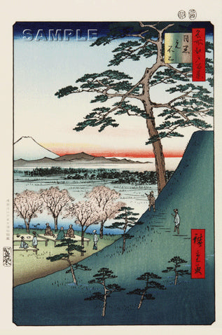 Utagawa Hiroshige - No.025 The Original Fuji in Meguro - One hundred Famous View of Edo - Free shipping