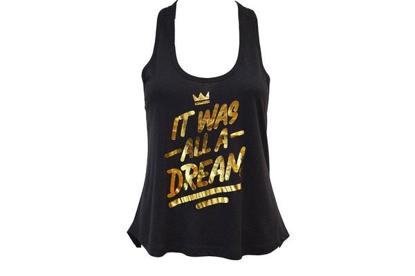 IT WAS ALL A DREAM Metallic Backless Tank by TribeTops