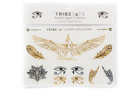 Ancient Egypt Collection | Metallic Tattoos Variety Set