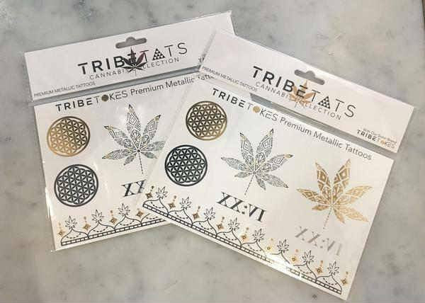 Cannabis-Inspired Metallic Temporary Tattoos | Marijuana Meets Henna