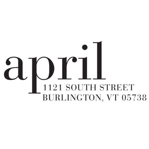 RETURN ADDRESS STAMP | STYLE April