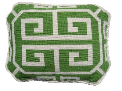 Needlepoint Greek Key Pillow