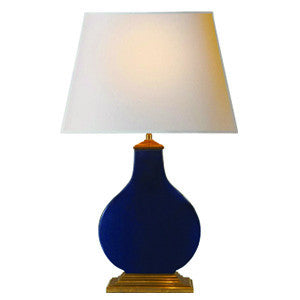 Midnight Blue Porcelain Lamp