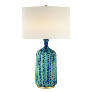 Pebbled Aquamarine Lamp