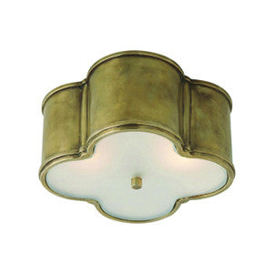 Basil Small Flush Mount in Natural Brass