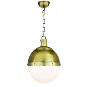 Hicks Pendant in Hand-Rubbed Antique Brass
