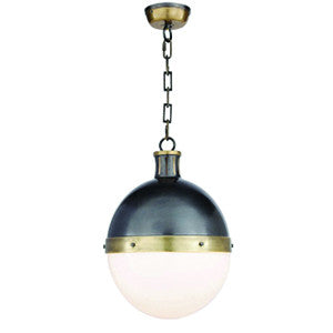 Hicks Pendant in Bronze & Hand-Rubbed Antique Brass
