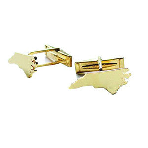 N.C. Metal State Cuff Links