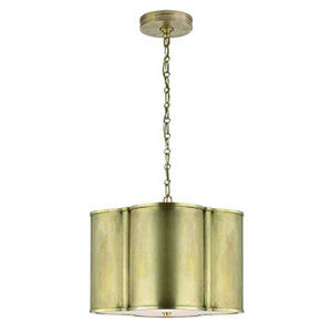 Small Basil Hanging Shade in Natural Brass