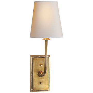 Hulton Sconce in Hand-Rubbed Antique Brass