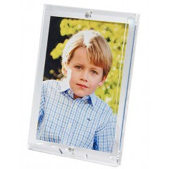 CLEAR BEVELED ACRYLIC FRAME FOR 4 X 6 PHOTO