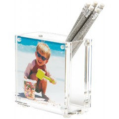 NEW COLOR - PHOTO PEN HOLDER - CLEAR (DOUBLE-SIDED)